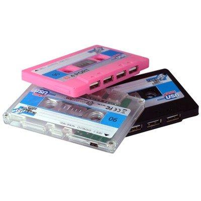 EANDG Gadget- Hub USB Cassette Retro negro