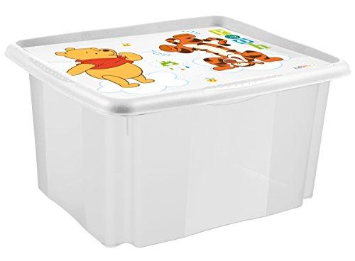 keeeper Winnie Aufbewahrungsbox mit Dreh-/Stapelsystem, 55,5 x 40 x 30 cm, 45 l, Anna, Weiß