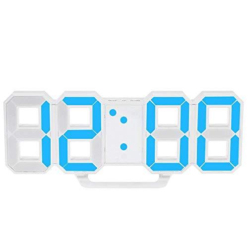 Cikuso Multifunktions LED Uhr Gro?e LED Digital Wanduhr 12H / 24H Zeit Anzeige mit Weck und Schlummer Funktion Helligkeit Einstellbar