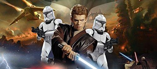 1art1 91440 Star Wars - Obi Wan Kenobi Fototapete Poster-Tapete 202 x 90 cm