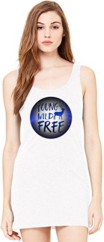 Young Wild And Free Bella Basic ärmellose Tunika Sleeveless Tunic Tank Dress For Women| 100% Premium Cotton| Large