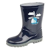 Boys Girls Childrens Kids Infants Navy Blue Wellington Wellies Boots Size UK 3 - 12