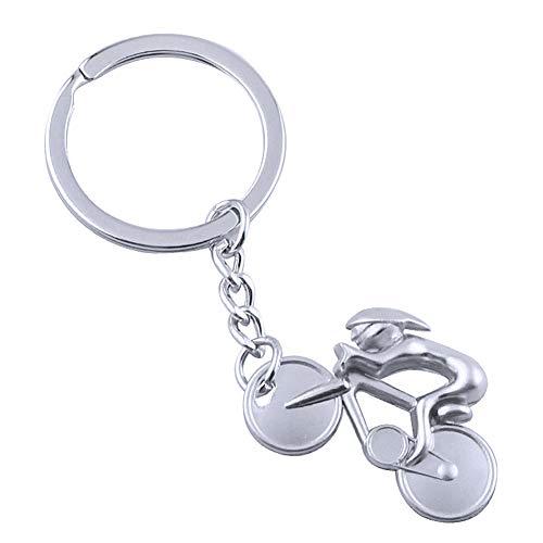 SYN Fahrrad-Anhänger Schlüsselanhänger, Mountain Bike Reiten Motorrad Mini Schlüsselanhänger Geldbörse Handtasche Auto Handy Rucksack Zubehör, Nickel, Free Size