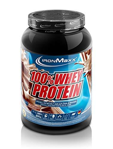 IronMaxx 100% Whey Protein - Whey Proteinpulver Schokolade auf Wasserbasis - Eiweißpulver für Eiweißshake mit Milchschokoladen Geschmack - 1 x 900 g Dose