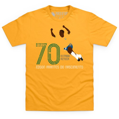 Football Icons Brazil 1970 T-Shirt, Herren Gelb