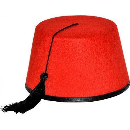Kostüm Fez Rote (Hut Fez, Rot)