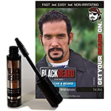 barbe noire temporaire pour les hommes brosse de couleur 12 - Coloration Barbe