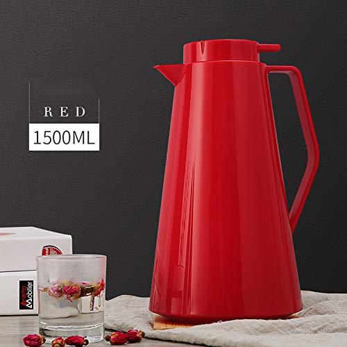 Wjf isolante bollitore casa isolamento pentola di grande capacità rivestimento in vetro,rosso,1
