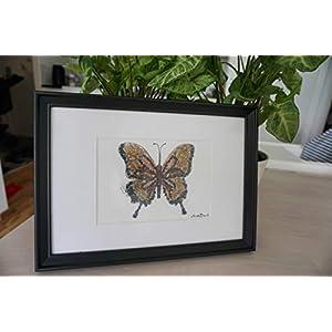 Kieselsteinkuns - Schmetterling-schöne und einzigartige Geburtstagsgeschenk, und haus dekoration- Butterfly pebble art -lovely and unique birthday gift, home decoration - traNPHart gallery