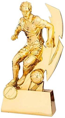 ATLT Trofei, medaglie Premi Calcio Calcio Tiratore Trofeo Stivali d'oro Scuola di trofeo Trofeo sportivo Compleanno Casa Soggiorno Decorazione Resina,Oro,26 * 16 * 11cm