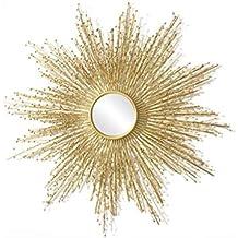 Miroir De Maquillage En Fer Decoration La Maison Dore Soleil Forme Creativite Europeenne