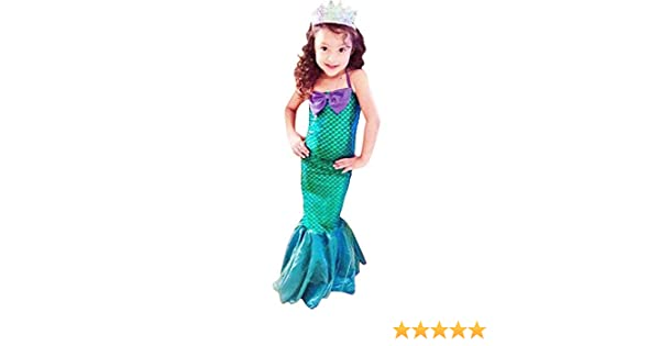 aa8e8e67b50ce IBTOM CASTLE Kids Mermaid Costume Ariel Fancy Dress Up Girls Fish Scale  Tail Party Halloween Carnival Costumes Clothes Christmas Holiday Birthday  ...