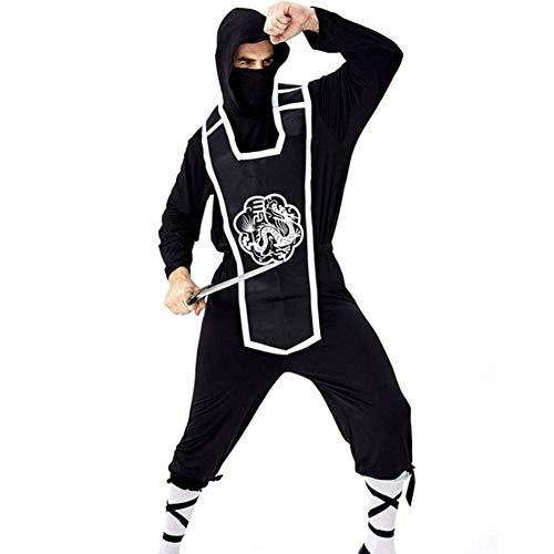 Kostüm Erwachsene Für Samurai Männer - AIYA Halloween Erwachsene Cosplay Ninja Samurai Spion Uniform