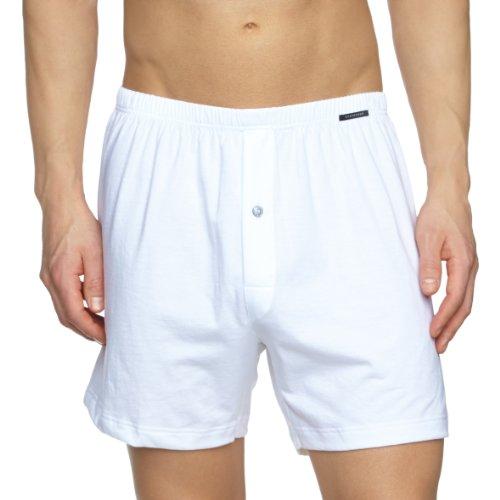 Schiesser Herren Boxershorts, Weiß (Weiß 100), Small (Herstellergröße 004), 110291-100