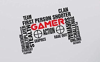 Arte de la pared videojugador profesional TecGa...
