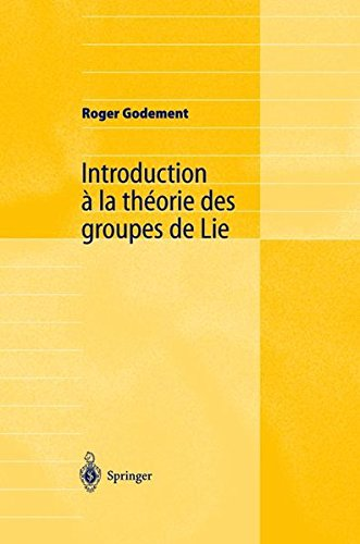 Introduction  la thorie des groupes de Lie