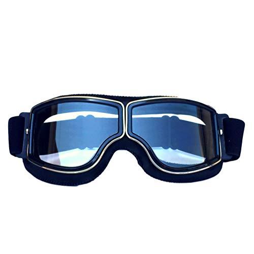 OttoBen Maske Retro Style Winddichte Brille Sportbrille Fahrradbrille Off-Road Schutzbrille Langlauf Motorrad Brille Outdoor für Damen und Herren