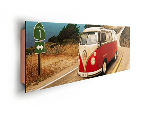REINDERS Volkswagen Bulli T1 - Californien Route 1 - Wandbild 156 x 52 cm (Volkswagen T1 Panel-bus)