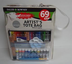 Simply Daler Rowney 69-Piece Artist Canvas Tote Bag by Daler Rowney (Tote Bag Artist)