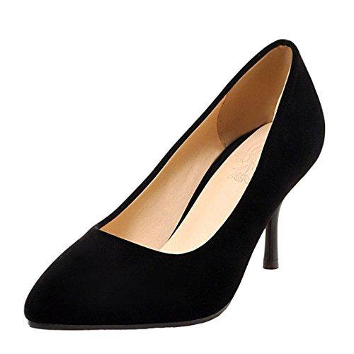 Agodor Damen Pointed Toe High Heels Pumps mit Stiletto 7cm Absatz Klassische Büro Arbeit Schuhe