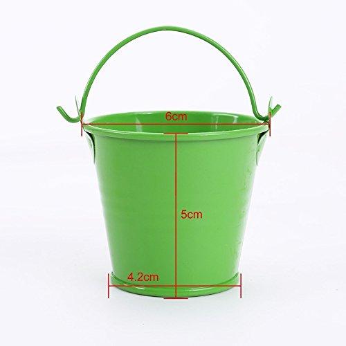 Wonque 12PCS vaso per fiori secchi mini Portable portafiori a forma di vaso in terracotta per tavolo da giardino in colore casuale