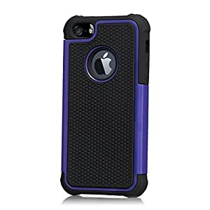 32nd ShockProof Series - Dual-Layer Shock and Kids Proof Case Cover for Apple iPhone 5, 5S & SE, Heavy Duty Defender Style Case - Deep Blue