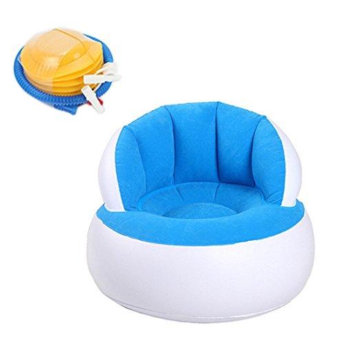 Aufblasbare Liege Couch, tragbar Wasserdicht strapazierfähiges Nylon Outdoor AIR Sofa für Camping, Park, Strand, Backyard (Blau) - 2