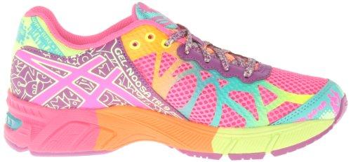 Asics Gel-Noosa Tri 9 Synthétique Chaussure de Course Hot Pink-Neon Purple-Flash Yellow