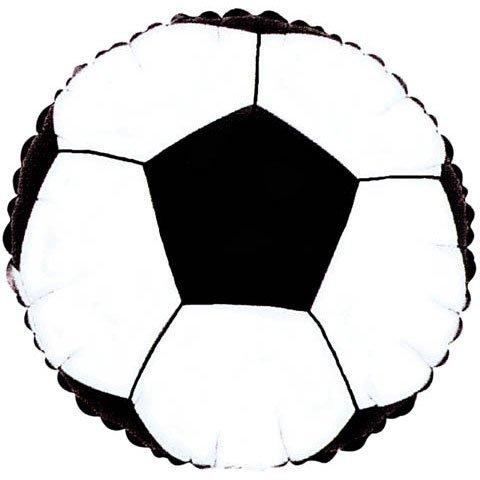Folienballon Fussball Fußball rund ca. 45 cm ungefüllt (Ballongas geeignet)
