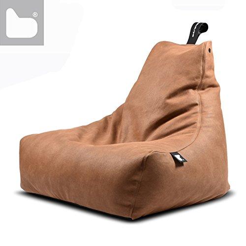 Sitzsack B-Bag MIGHTY Kunstleder in 4 rustikale Farben (Braun)