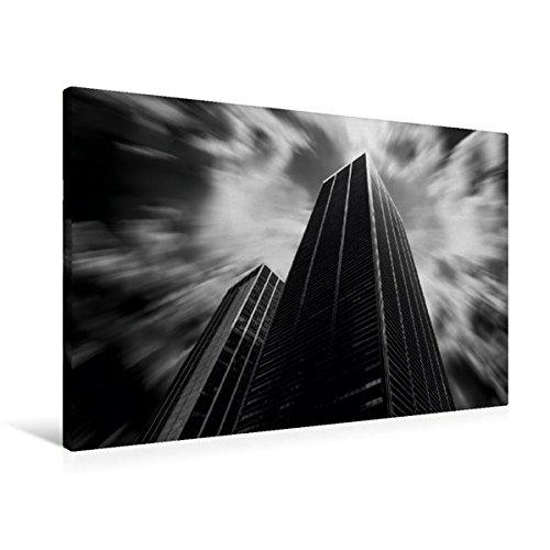 Premium Textil-Leinwand 90 cm x 60 cm quer, Ein Motiv aus dem Kalender Architektur Hochhäuser   Wandbild, Bild auf Keilrahmen, Fertigbild auf echter Leinwand, Leinwanddruck (CALVENDO Orte)