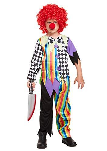 Clown Kostüm Böser Halloween - HENBRANDT Kinder Kostüm Böse Clown Halloween Kostüm
