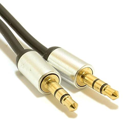 En Aluminium Longueur 2m à 3.5mm Aux câble audio jack vers jack 3,5mm pour Creative–51mf1610aa003gigaworks T20series II/Enceintes stéréo à connecter MP3, Téléphone mobile, tablette, ordinateur