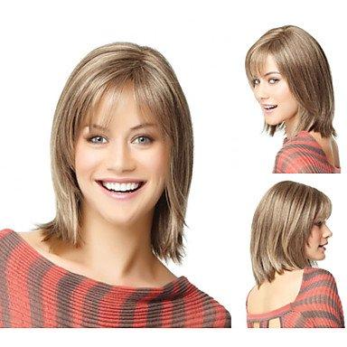 HJL-perruques synth¨¦tiques bob court hairwig droit pour les femmes de sw0067 de perruques naturelles , multicolor