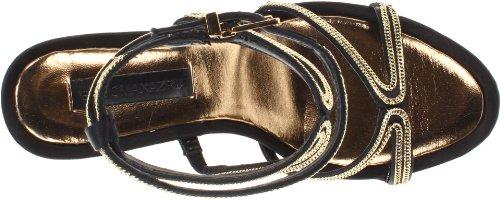 BCBG Max Azria Primp Damen Leder Sandale Black/Satin