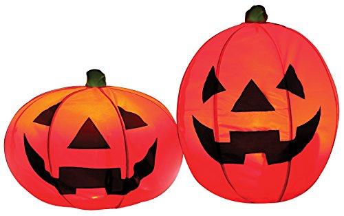 s Halloween Décor, Set of 2 (Light Up Kürbis Dekorationen)