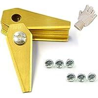 36 TITAN Ersatzmesser für Mähroboter | 1 mm | inkl. GRATIS Handschuhe | Bosch Indego | Rasenmäher Messer