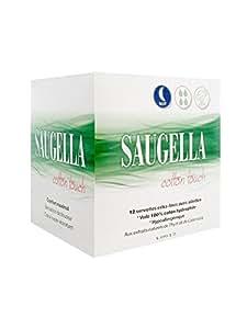Saugella Cotton Touch Nuit 12 Serviettes Extra-Fines avec Ailettes