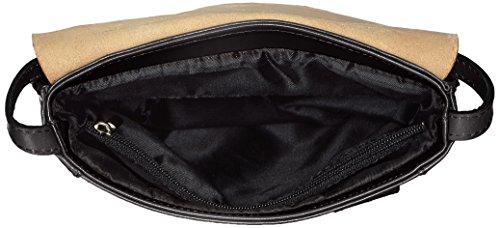 CTM Umhängetasche Unisex, 22x26x6cm, echtes Leder 100% Made in Italy Schwarz (Nero)