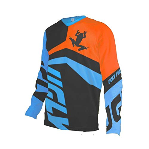 Uglyfrog UF18XIN31 Designs Blocks MTB Motocross Rennrad/Downhill Jersey Lange Ärmel Frühling Trikot MX Enduro Offroad Gelände Quad Cross Erwachsene