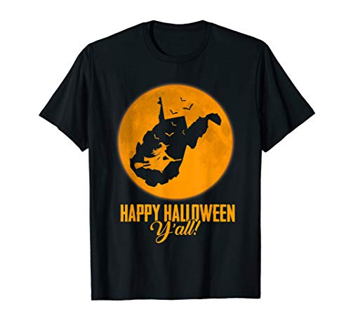 l West Virginia Witch Map T-shirt ()
