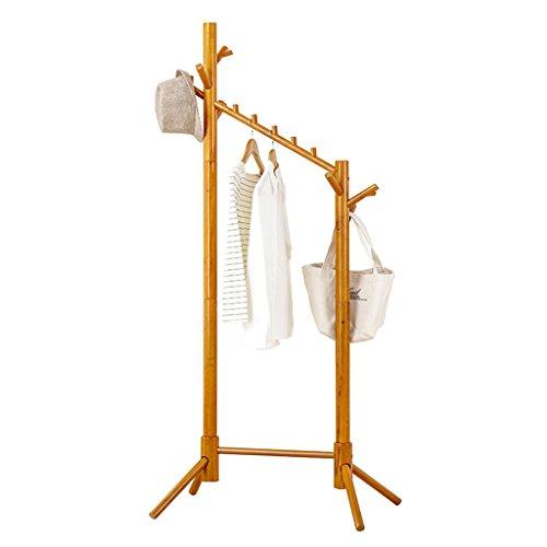 SKC Lighting-Porte-manteau Tout le plancher en bois solide porte-manteau Chambre salon cintre porte-vêtements multifonctionnel (68 * 47 * 175CM)
