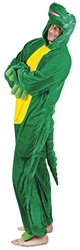 B88048-195 Krokodil Kostüm Damen Herren bis max. 195 cm Körpergröße (Schnappi Kostüm)