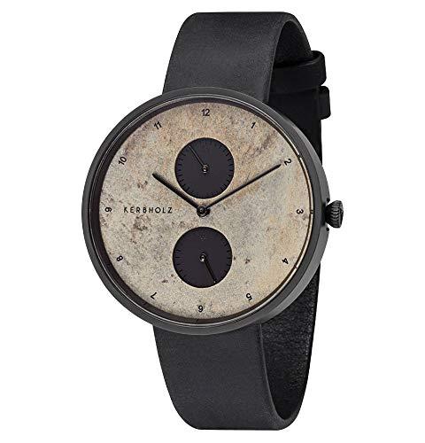 Kerbholz Unisex Erwachsene Multifunktion Quarz Uhr mit Leder Armband 4251240406985