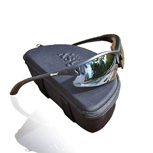 Trymway Daisy C3 Taktische Brille, Airsoft Militär-Wüstenbrille zum Fahren von Motorrad oder Fahrrad in der Wüste oder für Paintball, Schutzbrille UV 400, für Herren.