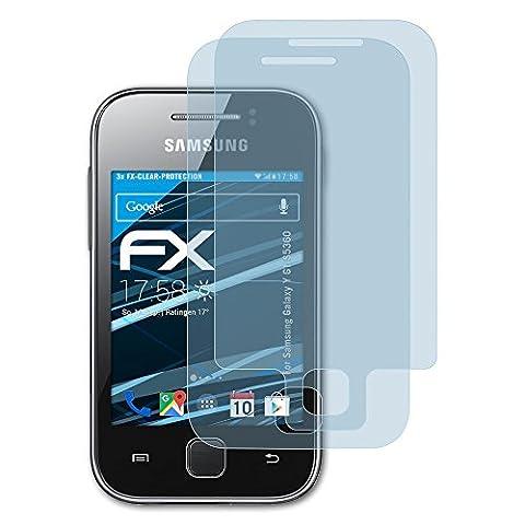 Samsung Galaxy Y (GT-S5360) Schutzfolie - 3er Set atFoliX FX-Clear kristallklare Folie Displayschutzfolie