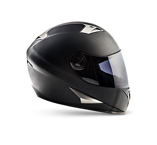 SOXON ST-550 Fighter · Integral-Helm Scooter-Helm Urban Motorrad-Helm Roller-Helm Cruiser Sport Helmet Sturz-Helm · ECE zertifiziert · inkl. Sonnenvisier · inkl. Stofftragetasche · Schwarz · XS (53-54cm) - 3