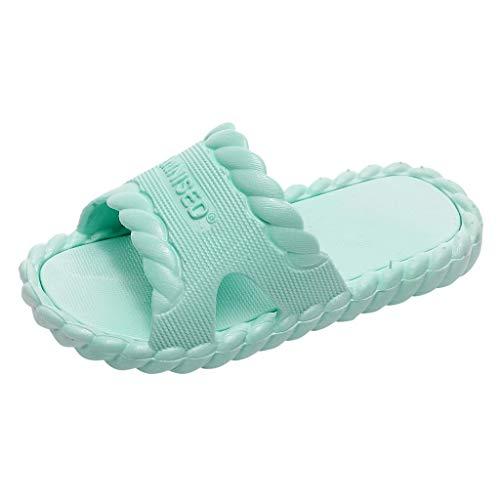 Kinder Unisex Badeschuhe Jungen Dusch-& Badeschuhe Badelatschen Mädchen Rutschfeste Badeschlappen Weich Pantoletten Hausschuhe Sommer Strand Sandale Slipper(Grün,26 EU) ()