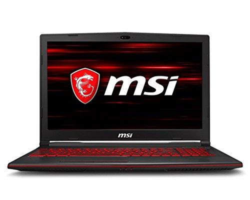 MSI GL63 8RC-070UK Ultrabook 15.6-Inch IPS Notebook - (Black) (Intel i5-8300H, 8 GB RAM, 1 TB HDD Plus 128 GB SSD, NVIDIA GeForce GTX 1050 Graphics, Windows 10 Home)