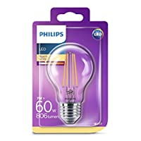 Philips LED Classic 60W A60 E27 Non-Dim 2700K LED Filament Ampul